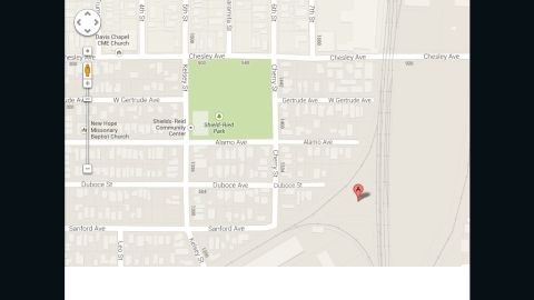 A satellite image of this area on Google Maps shows what a California man says is his son's dead body.
