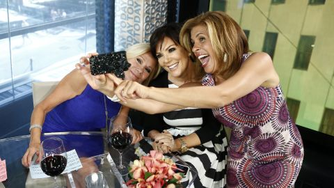 """Kathie Lee Gifford, Kris Jenner and Hoda Kotb pose for a selfie on NBC's """"Today"""" show."""