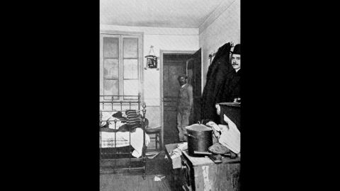 Seen here is Peruggia's apartment in Paris, where Peruggia hid the Mona Lisa in a false bottom of a wooden trunk.