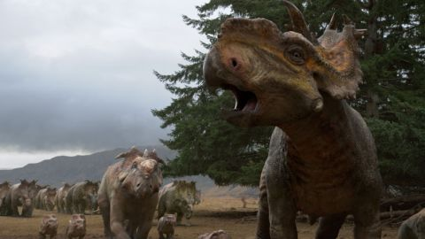 """Think of """"Walking With Dinosaurs"""" like a cross between """"The Land Before Time"""" and """"Jurassic Park"""" without the Spielbergesque drama. In this 3-D epic from Fox, the curious can get a realistic picture of what life was like when dinosaurs ruled, as told through the story of one young dino. (Release date: December 20)"""