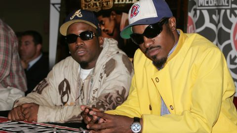 Big Boi (left) and Andre 3000 of OutKast make an appearance in New York City in 2006.