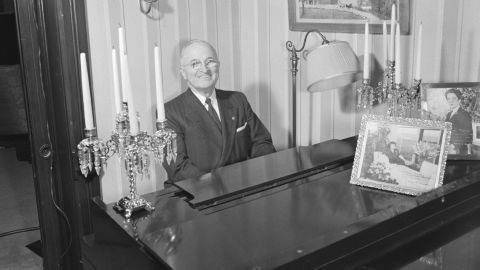 """Harry S. Truman always loved to play the piano. His mother <a href=""""http://www.trumanlibrary.org/kids/piano.htm"""" target=""""_blank"""" target=""""_blank"""">was his first piano teacher.</a>"""