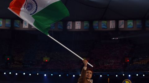 Keshavan had the honor of carrying the Indian flag four years ago, but will have to compete under the Olympic banner in Sochi. India's Olympic association was suspended by the IOC and will not be reinstated before the February 7 opening ceremony.
