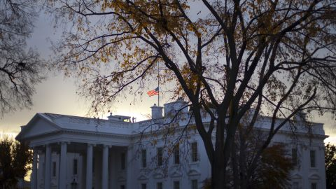 """A flag flies at half-staff above the White House on November 22. President Barack Obama said the anniversary is a day to honor Kennedy's memory and """"celebrate his enduring imprint on American history."""""""