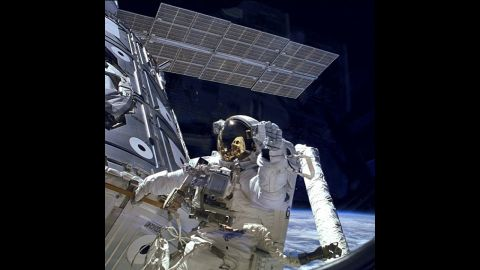 Celebrating #iss15: Astronaut James H. Newman waves during a spacewalk preparing for release of the first combined #iss elements. The Russian-built Zarya module, with its solar array panel visible here, was launched into orbit fifteen years ago on Nov. 20, 1998. Two weeks later, on Dec. 4, 1998, NASA's space shuttle Endeavour launched Unity, the first U.S. piece of the complex. During three spacewalks on the STS-88 mission, the two space modules built on opposite sides of the planet were joined together in space, making the space station truly international. Since that first meeting of Zarya and Unity, the space station grew piece by piece with additions from each of the international partners built across three continents and leading to the largest and most complex spacecraft ever constructed. The space station, now four times larger than Mir and five times larger than Skylab, represents a collaboration between NASA, Roscosmos, the European Space Agency, the Japanese Aerospace Exploration Agency and the Canadian Space Agency, representing 15 countries in all. CREDIT: NASA #nasa #space #iss #iss15 #spacestation #birthday #astronauts #zarya #roscosmos #international #unity #rsa