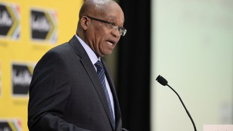South African President Jacob Zuma in Johannesburg on October 14, 2013.