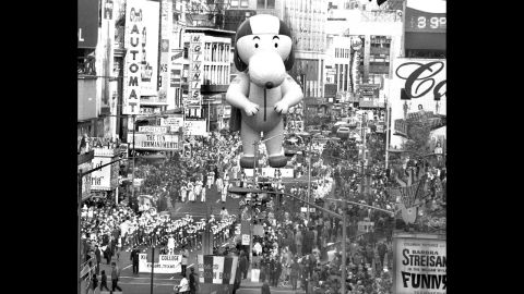 <strong>Aviator Snoopy (1968):</strong> Eight different versions of the Snoopy character have appeared in the parade, the first being Aviator Snoopy in 1968.