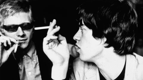 """Stones manager Andrew Loog Oldham and Mick Jagger. """"The big difference between the Beatles and the Stones were [that] the Beatles made it in America. The Stones were made <em>by</em> America,"""" says Oldham."""