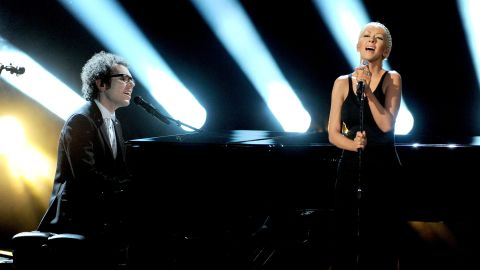 """Ian Axel of A Great Big World and Christina Aguilera perform """"Say Something."""""""
