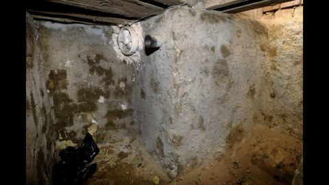 """The interior of the """"spider hole."""""""