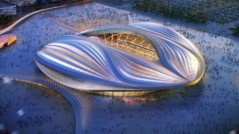 The Al Wakrah stadium, designed by the late Iraqi-British architect Zaha Hadid, will boast a capacity of 40,000.
