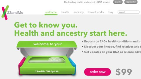 Google-backed company 23andMe's at-home genetic testing kits were being sold online for $99.