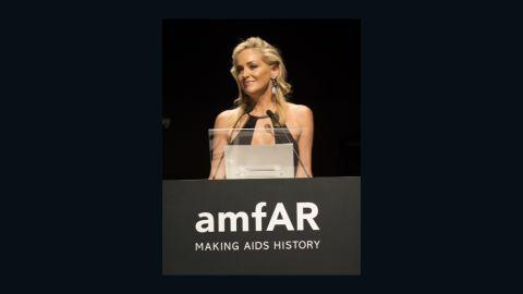 Actress Sharon Stone, amfAR's global fundraising chairman