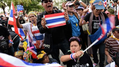 Thailand's mass political protests spread outside the capital on Wednesday as opposition demonstrators stepped up their attempts to overthrow Prime Minister Yingluck Shinawatra's government, plunging the country deeper into crisis.