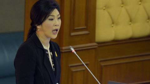 Thailand's Prime Minister Yingluck Shinawatra appealed for an end to 'mob rule' on November 26 as she prepared to face a no-confidence debate in parliament.