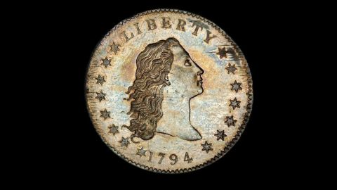 """The United States Mint has designed many one-dollar coins. Here are some of the more interesting ones. This """"Flowing Hair"""" silver dollar is believed to be one of the first silver dollars created by the U.S. Mint."""