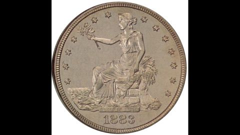 """The """"Trade"""" dollar was intended for trade in the East to compete with the European dollar, but was devalued when the world price of silver dropped, according to the U.S. Mint."""