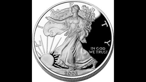 """According to the U.S. Mint, the """"American Eagle"""" silver dollar is based on the 1916 """"Walking Liberty"""" half dollar."""