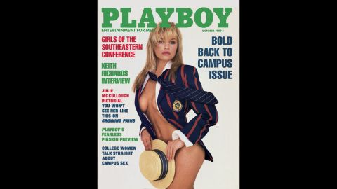 Pamela Anderson holds the record for the most Playboy covers. This October 1989 issue was the first of 13 cover appearances.