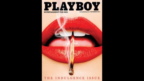 """Playboy has recently returned to running the more art-inspired concept covers that it was known for in the 1950s, '60s and '70s. This November 2013 """"Lips"""" cover was recently awarded """"Cover of the Day"""" by the Society of Professional Designers."""