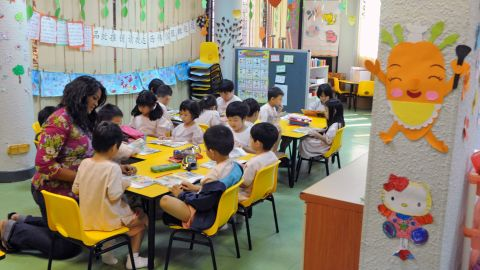 Singapore ranked second in math, and third in reading and science. The test measured students' knowledge in all three subjects and their ability to apply what they've learned to new situations.