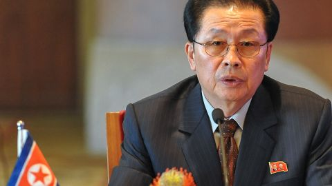 Jang attends a meeting on developing the economic zones in North Korea, in Beijing, on August 14, 2012.