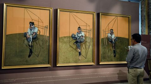 """""""Three Studies of Lucian Freud,"""" a 1969 painting by Francis Bacon, sold for $142.4 million in November 2013, <a href=""""http://www.cnn.com/2013/11/12/us/francis-bacon-painting-art-auction/index.html"""">breaking the record</a> for the most expensive piece of art ever auctioned."""