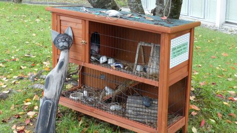 """While they take their work seriously, that doesn't mean the scientists at CERN don't have a sense of humor.  Here we see CERN's """"Animal Shelter for Computer Mice,"""" where used and unwanted computer mice have a place to call home."""