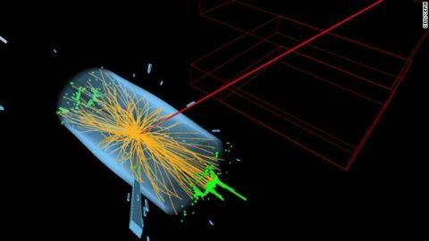 This is what happens when the Higgs boson decays into particles called Tau leptons.