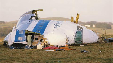 Pan Am Flight 103 crashed onto the town of Lockerbie in Scotland, on December 21, 1988.