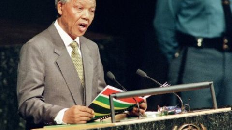 South African President Nelson Mandela addresses the UN General Assembly in New York in October 1994. A year later South Africa ratified the UN Convention to End All Forms of Discrimination Against Women.