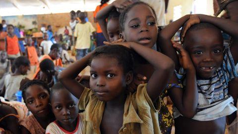 Children play inside Bangui's Saint-Bernard Church, where their families took refuge following the wave of deadly violence on December 7.