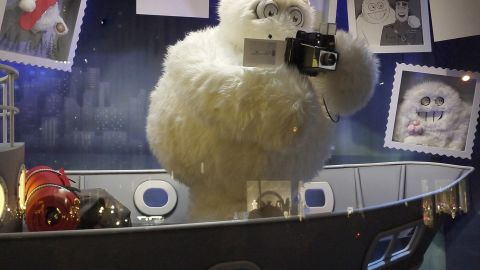 """<strong>""""The Yeti Story,"""" Saks Fifth Avenue, New York:</strong> Saks unveiled its windows with an elaborate 3-D light show that will be projected onto the store's exterior each evening."""