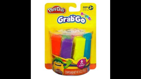 Play-Doh Color Sticks Grab 'n Go Brights Pack by Hasbro in 2013. A product by the iconic brand, Color Sticks, individually wrapped 1-ounce Play-Doh sticks, let kids take shape where ever they go.