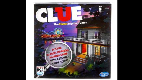 Clue board game by Parker Brothers in the 2010s. Since Hasbro bought out Parker Brothers in the '90s, Clue has had dozens of variations as well as TV shows and movies. Still, all the fun of the game is in the three main questions: Who killed Mr. Boddy? Where did they do it? And what did they do it with?