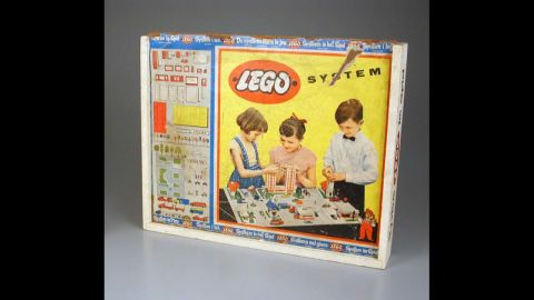 """Lego System construction set by Lego Systems Inc. circa 1950. The Lego Group was founded in 1932 by Ole Kirk Christiansen. The actual company began as a woodworking company, with its very first toy being a wooden duck. Later, Lego began making the plastic bricks that have started a future of architects. The word Lego comes from a Danish word meaning """"play well."""""""