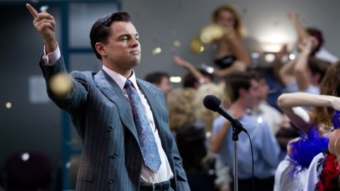 "Leonardo DiCaprio plays Jordan Belfort in Paramount's ""The Wolf of Wall Street."""