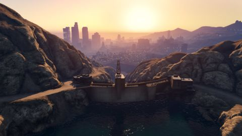 """""""Grand Theft Auto V's"""" San Andreas offers a panoramic slice of California, from its sparkling ocean-side real estate to misty mountainsides."""