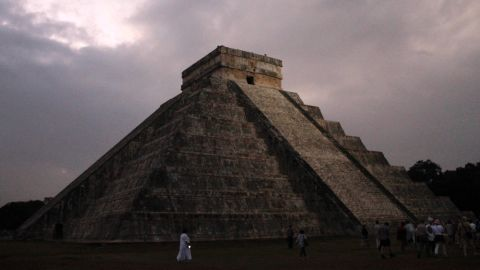 People gather in front of the Temple of Kukulkan in Chichen Itza, Mexico, on December 21, 2012. The Maya calendar ended without incident last year, so now is a good time to experience the amazing cultural sites in relative peace.