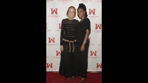 Journalist Gloria Steinem poses with Kierra Johnson at the Ms. Foundation's Women of Vision 2013 Gala earlier this year. Johnson, the executive director of Choice USA, an abortion rights organization, has worked to mobilize youth around reproductive justice.