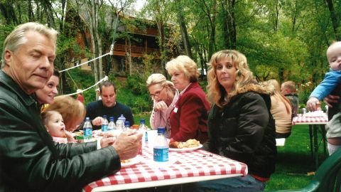 Tina Webb at a picnic just before she died in September 2007.