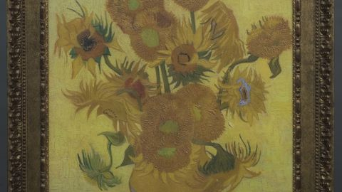 """Working with Fujifilm, the Van Gogh Museum has created 3-D printed reproductions—called """"Relievos""""—of five masterpieces. This """"Sunflowers"""" Relievo captures the direction and relief of Van Gogh's brushstrokes, and its 32 shades of yellow. The museum sells the reproductions for €25,000 each, or about $34,000."""