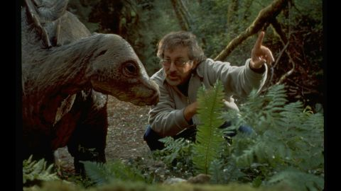 """Spielberg directs a dinosaur in the """"The Lost World,"""" the """"Jurassic Park"""" sequel in 1997."""