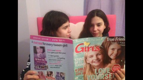 """Rebecca Levey got her twin daughters a subscription to Discovery Girls, a magazine for young tweens. """"The magazine is great, very empowering and positive and I think it's fun to get something via snail mail,"""" said Levey, a co-founder of a video-sharing platform called <a href=""""http://www.kidzvuz.com/"""" target=""""_blank"""" target=""""_blank"""">KidzVuz.</a>"""