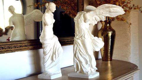"""The artist Cosmo Wenman created the first-ever publicly available 3-D prints of the sculptures Venus de Milo and the Winged Victory of Samothrace. """"This technological moment will reverberate in our art for thousands of years,"""" Wenman wrote on his <a href=""""http://www.cosmowenman.com"""" target=""""_blank"""" target=""""_blank"""">web site</a>. They were made with an inexpensive, consumer-grade 3-D printer and cost around $5 each to produce."""