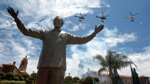 A statue of former South African President Nelson Mandela was unveiled in Pretoria, South Africa on December 16.