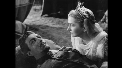 """Robert Taylor and Fontaine appear in the 1952 film """"Ivanhoe."""""""