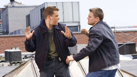 """""""The Departed,"""" the lauded 2006 film starring Matt Damon as Colin Sullivan and Leonardo DiCaprio as Billy Costigan, was one of Brad Pitt's first successful forays into producing."""
