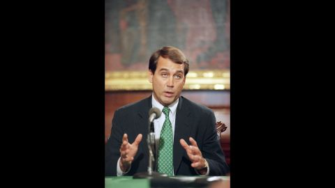 Boehner at a Capitol Hill news conference on February 6, 1995. He has had a seat in the U.S. House of Representatives since 1990. Before that he was a member of the Ohio State House of Representatives for six years.