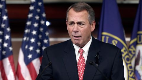"""Boehner blasts conservative groups during a press conference in December 2013 after passing a compromise budget deal aimed at removing the threat of another government shutdown. Fed up with criticism from conservative advocates, Boehner said they were """"misleading their followers."""" He followed up with: """"Frankly, I just think that they've lost all credibility."""""""